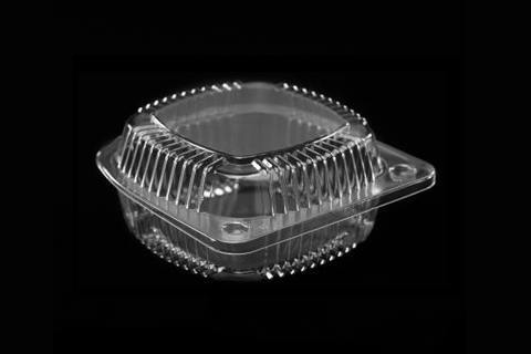 5 inches Clear Transparent Plastic Crystalline Clamshell Container
