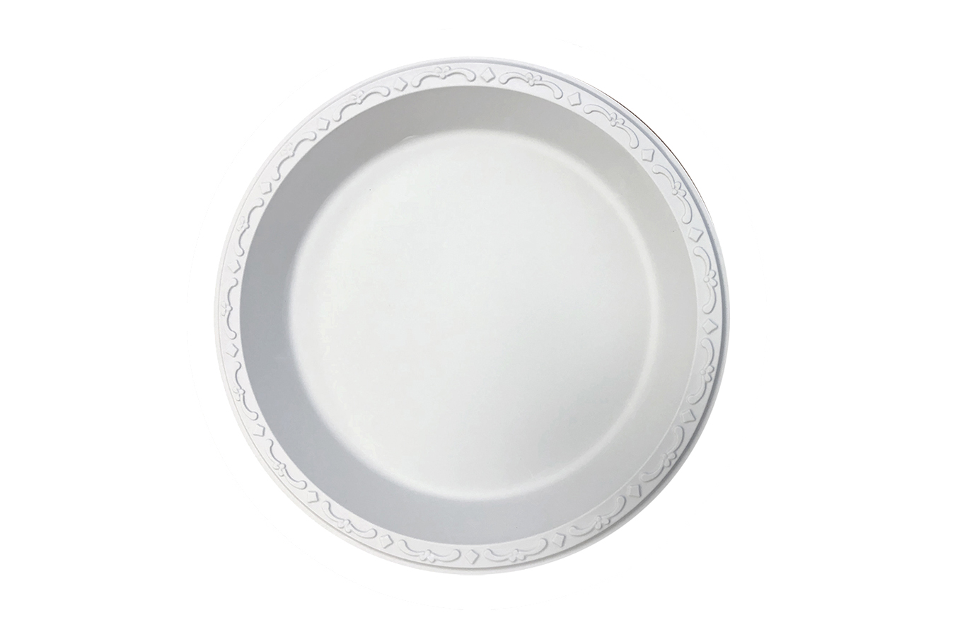 Ivory Polypropylene PP Plastic round 9 inches pebble box plate