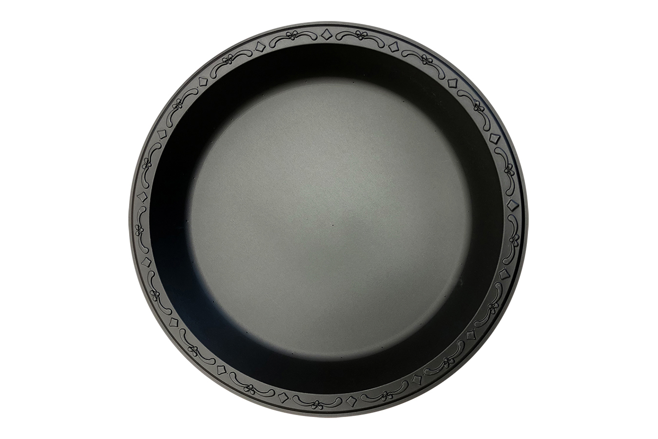Black Polypropylene PP Plastic round 10 inches pebble box plate