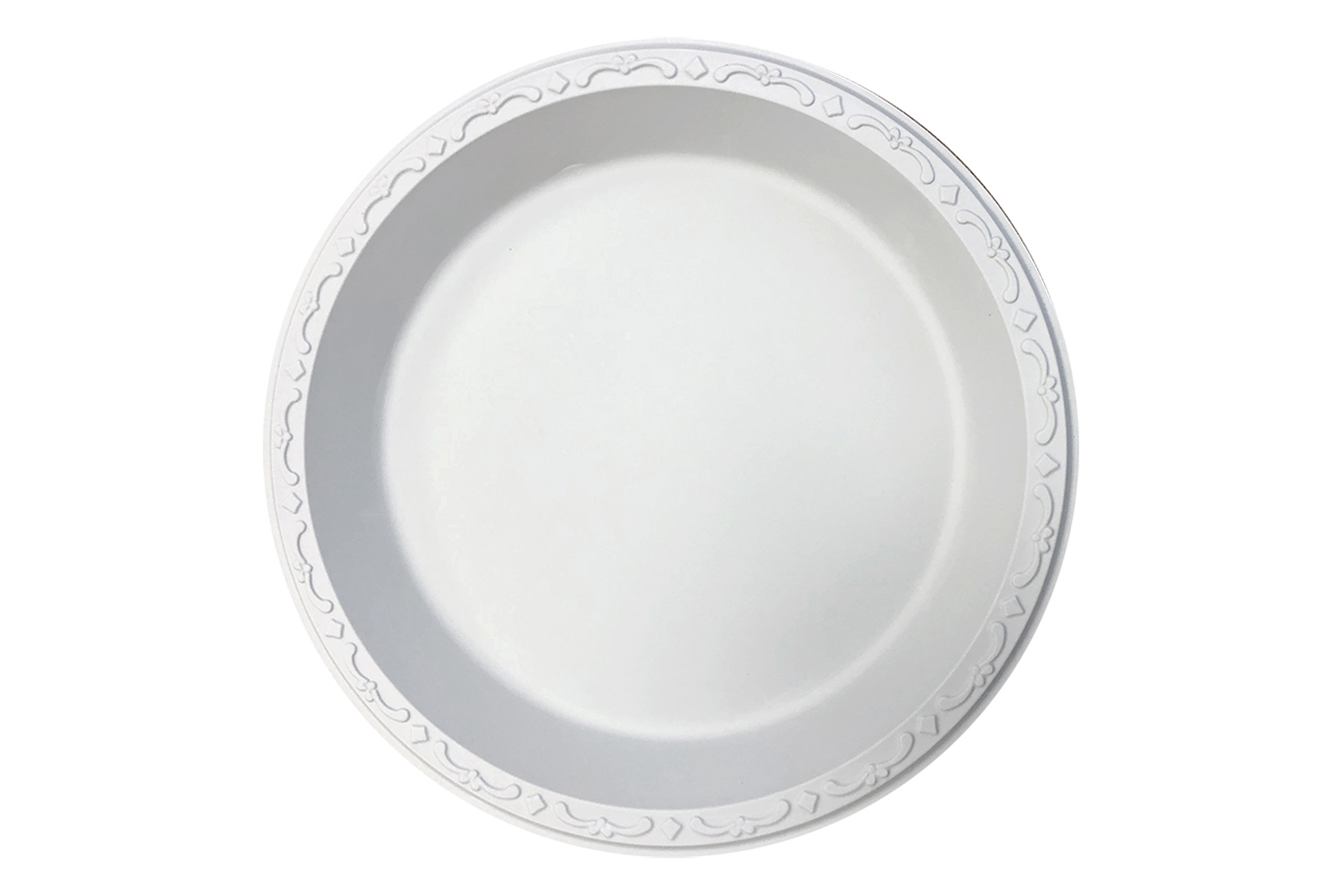 Ivory Polypropylene PP Plastic round 10 inches pebble box plate