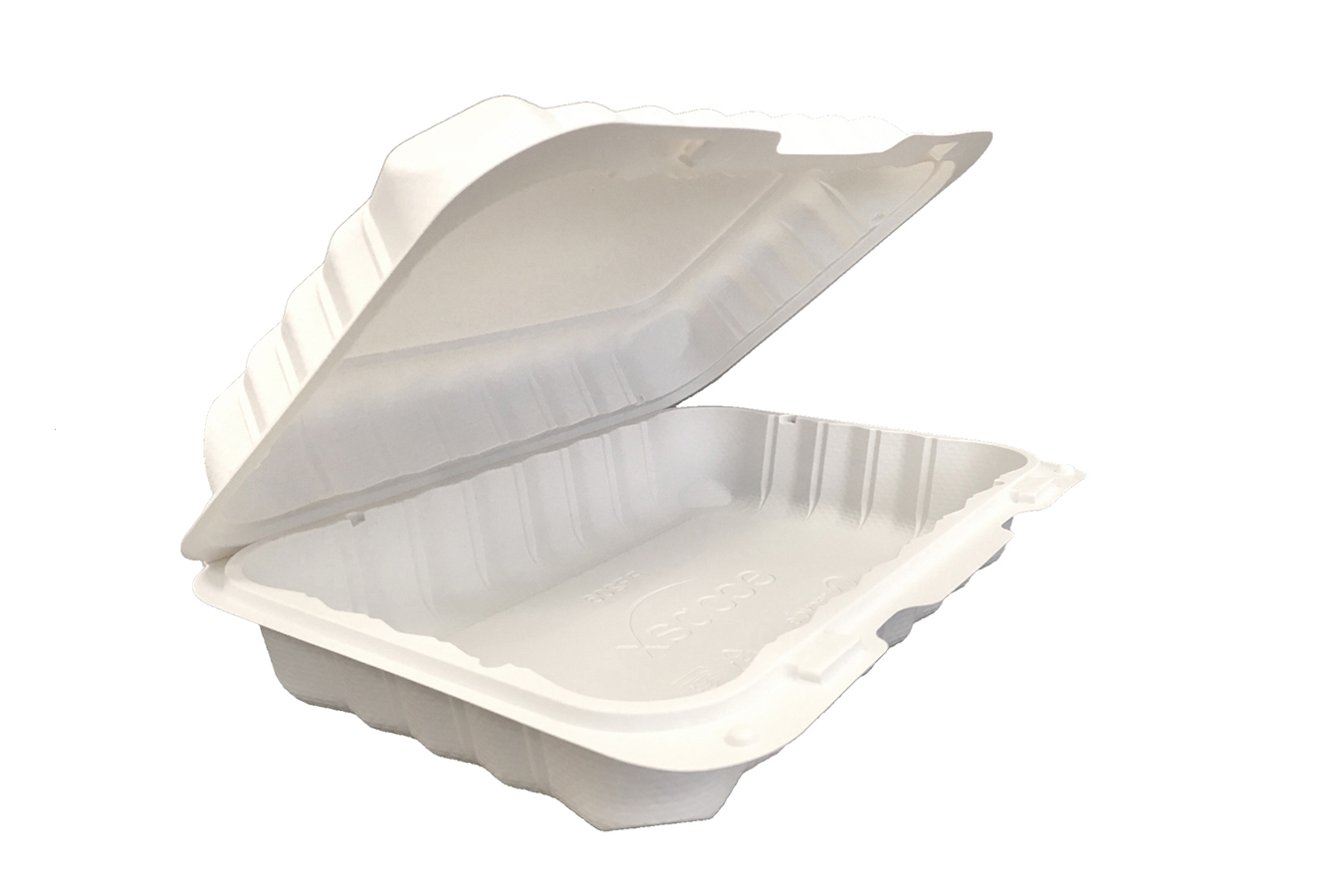 Ivory Polypropylene PP Plastic Pebble Box hinged container