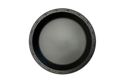 Black Polypropylene PP Plastic round 9 inches pebble box plate