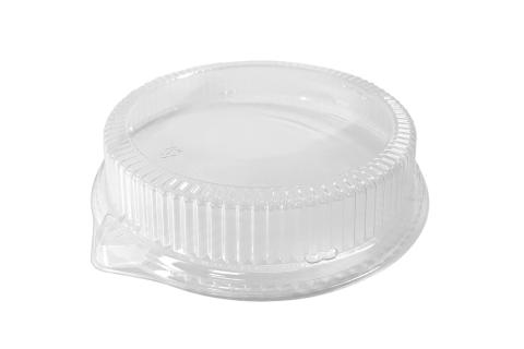 Clear PET Dome Lid for Ecopax Pebble 10 inches PP Plate